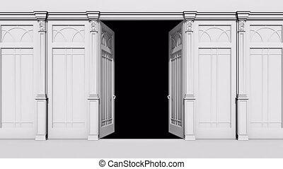 canal, transition, alpha, porte, ouverture