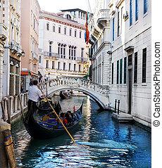 canal, venecia italia, góndola, magnífico