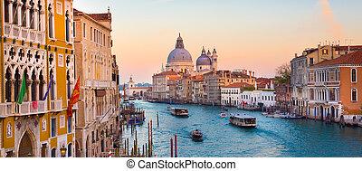 canal, venecia, italy., magnífico