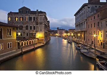 canal, venecia