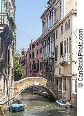 canal, venecia, (venezia)