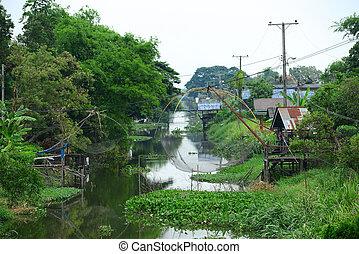Canal Village in Thailand