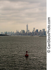 canal, york, fond, marqueur, nouveau, rouges