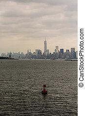 canal, york, fundo, marcador, novo, vermelho