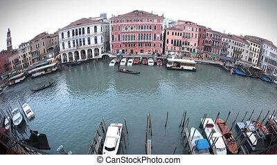 Canale Grande Fisheye - View of Canale Grande through a...