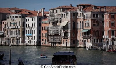 Canale Grande - Timelapse Canale Grande with traffic on the...
