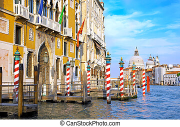 canale, italia, strada, grande, venezia, bello