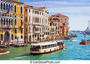 canale, venezia, grande