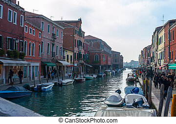 canales, burano, venecia, murano