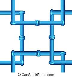 canalização, industrial, isolado, fundo, tools., branca, 3d