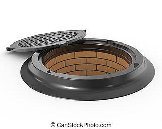 canalization, manhole