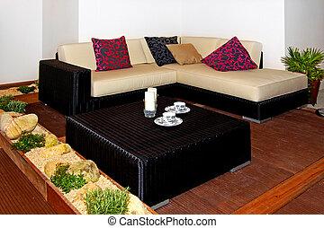 canapé, terrasse