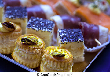 Canape and morsel on a buffet