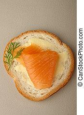 canape of salmon