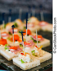 canape on a plate