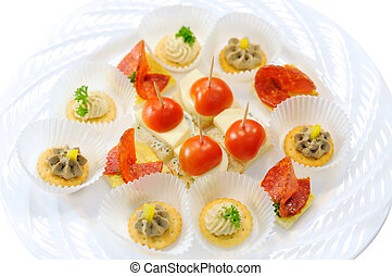 Canape plate
