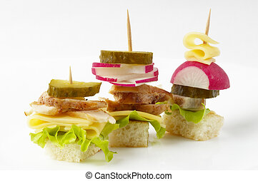 Canape snacks