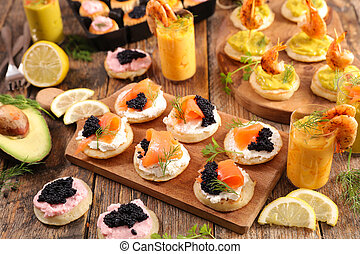 canape, verrine and vol au vent