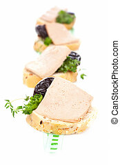 Canape with pate. Luxurious french dining. - Luxurious ...