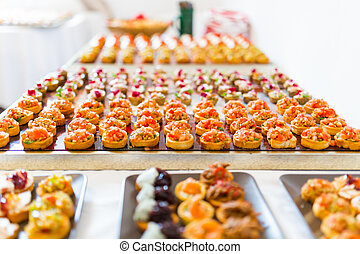 canapes, büffet