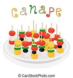 Canapes clip art vector and illustration 308 canapes for Canape vector download