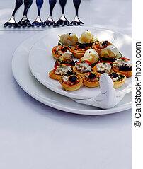 Canapes - Finger food - finger food pieces at Mediterranean...