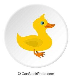 canard, cercle, icône