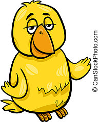 canary bird character cartoon illustration - Cartoon...