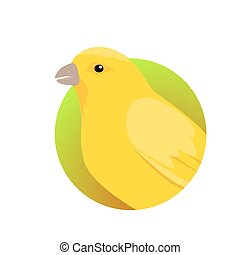 Canary Flat Design Vector Illustration