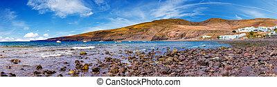 Canary island and Spanish beach.