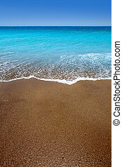 Canary Islands brown sand beach turquoise water