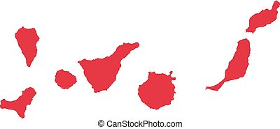 Canary Islands map silhouette