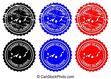 Canary Islands - rubber stamp - vector, Canary Islands (...