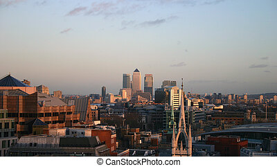 Canary Warf London - London Skyline looking to Canary Warf