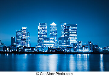 Canary Wharf, London. - Canary Wharf view from O2 Arena. ...