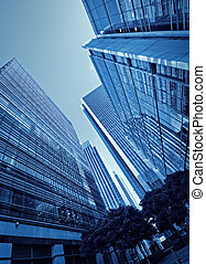 Canary Wharf, London. - Toned picture of Canary Wharf`s...