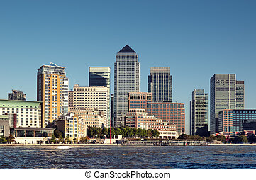 Canary Wharf,London. - Canary Wharf financial centre in...