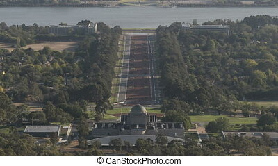 canberra, aerialview, timelapse