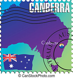 Canberra - capital of Australia. Stamp