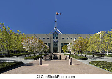 CANBERRA PARLIAMENT - Parliament House in Australian capital...