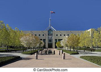 CANBERRA PARLIAMENT - Parliament House in Australian capital...