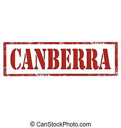 canberra-red, postzegel