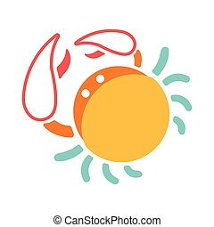 Cance Flat Icon - The crab icon in flat color design vector...