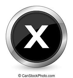 cancel black icon