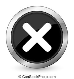 cancel black icon x sign