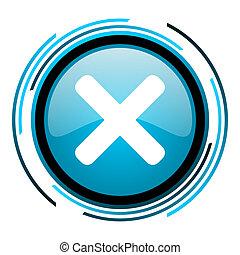 cancel blue circle glossy icon