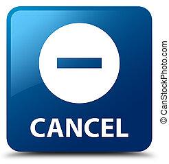 Cancel blue square button