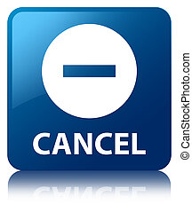Cancel blue square button