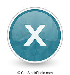 Cancel brillant crystal design round blue web icon.