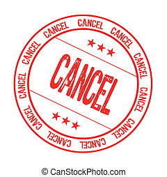 cancel - rubber stamp